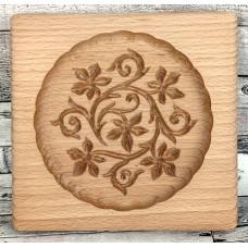 Пряникове дошка Візерунок №4 Виноградне листя деревяна розмір 14 *13 * 2см. Форма для формування пряників