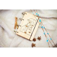 """Блокнот А6 """"Breaking bad"""" з натурального дерева на кільцях. Записна книжка. Альбом для малювання. Щоденник."""