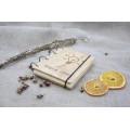 """Блокнот А6 """"Ідея"""" з натурального дерева на кільцях. Записна книжка. Альбом для малювання. Щоденник."""