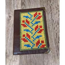 Блокнот з натуральної шкіри з вишивкою ручна робота подарунок
