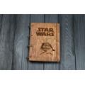 """Блокнот А5 """"Star wars"""" з фанери на кільцях. Записна книжка. Альбом для малювання. Щоденник."""