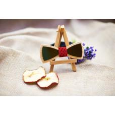 """Краватка-метелик """"Золото"""" з натурального дерева"""