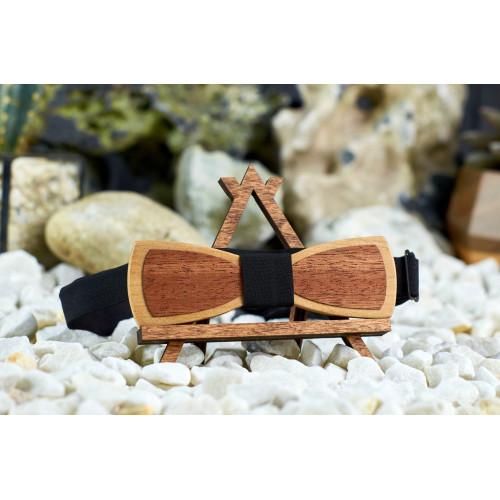 "Краватка-метелик шпонована ""Пелюсток"" з натурального дерева"