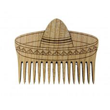 """Гребінь для бороди дерев'яний """"Сомбреро"""""""