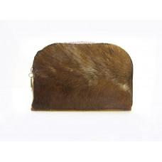 Косметичка, клатч, сумочка з ворсистою шкірою з дерев'яною основою
