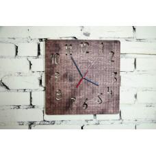 Годинник настінний із фанери