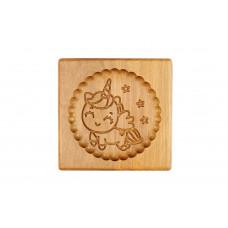 Пряничная дошка Єдиноріг 15*15 (дошка для друкованого пряника) дерев'яна