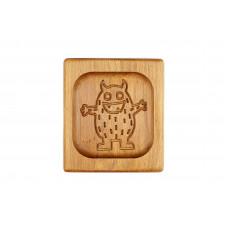 Пряничная дошка  Монстр10*10 (дошка для друкованого пряника) дерев'яна