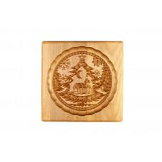 Пряничная дошка  Різдвяний 15*15 (дошка для друкованого пряника) дерев'яна