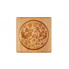 Прянична дошка Ажурний малюнок 15*15 (дошка для друкованого пряника) дерев'яна