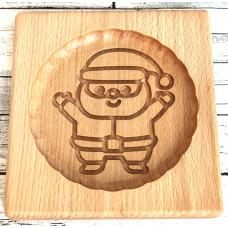 Пряникове дошка Сніговик деревяна розмір 14 *13 * 2см. Форма для формування пряників