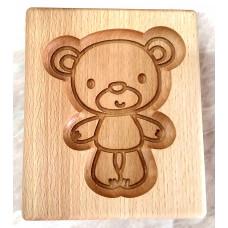 Пряникове дошка Ведмедик деревяна розмір 16 *13 * 2см. Форма для формування пряників
