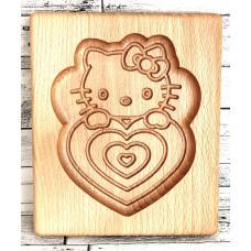Пряникове дошка Кішечка деревяна розмір 16 *13 * 2см. Форма для формування пряників