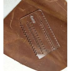 Лекало - шаблон №1 акріловий.Шаг розмітки 4мм для крою сумок, гаманців і інших издели