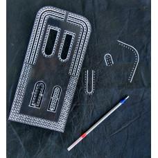 Лекало - шаблон  акріловий.Шаг розмітки 3мм для крою сумок, гаманців і інших издели