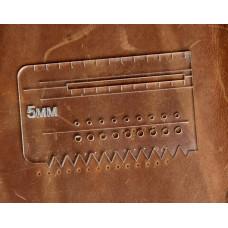 Лекало - шаблон №1 акріловий.Шаг розмітки 5мм для крою сумок, гаманців і інших издели