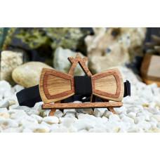 Краватка метелик шпонований Контур на шию під сорочки чоловічі