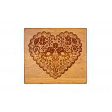 Пряничная дошка Закохані пташки 17 * 15 (дошка для друкованого пряника) дерев'яна