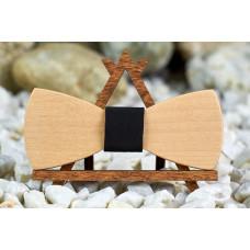 Краватка метелик Класик з клена на шию під сорочки чоловічі