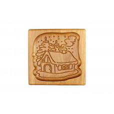 Пряничная дошка Будинок в лісі 16 * 15 (дошка для друкованого пряника) дерев'яна