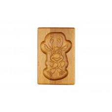 Пряничная дошка Веселий оленятко 10 * 15 (дошка для друкованого пряника) дерев'яна