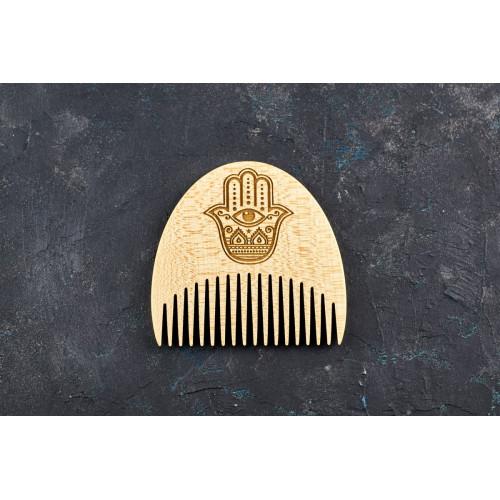 """Гребінь для бороди """"Хамса"""" з натурального дерева"""