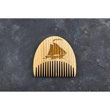"""Гребінь для бороди """"Кораблик"""" з натурального дерева"""