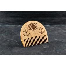 """Гребінь для бороди """"Морський"""" з натурального дерева"""