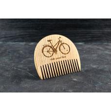 """Гребінь для бороди """"Велосипед"""" з натурального дерева"""