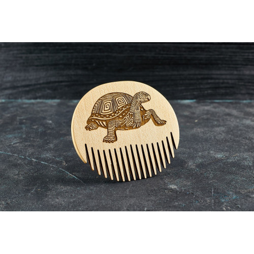 """Гребінь для бороди """"Черепаха"""" з натурального дерева"""