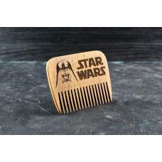 """Гребінь для бороди """"Дарт Вейдер"""" з натурального дерев"""
