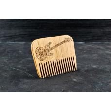 """Гребінь для бороди """"Гітара"""" з натурального дерева"""