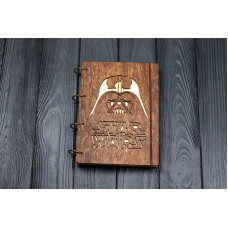 "Блокнот А5 ""Звездные войны"" з фанери на кільцях. Записна книжка. Альбом для малювання. Щоденник."