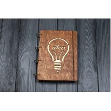 """Блокнот А5 """"Идея"""" з фанери на кільцях. Записна книжка. Альбом для малювання. Щоденник."""
