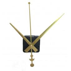 Настінний годинниковий механізм без вушка колір золото стрілки 16 * 12 * 19 см