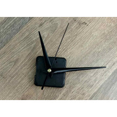 Настінний годинниковий механізм без вушок чорний маленький  стрілки  11*8,5*12,6 см