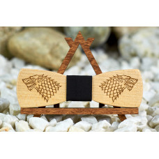 Краватка метелик гравірування Гра престолів слим на шию під сорочки чоловічі