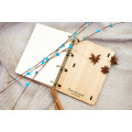 """Блокнот А6 """"Сова"""" з натурального дерева на кільцях. Записна книжка. Альбом для малювання. Щоденник."""