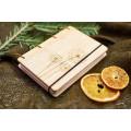 """Блокнот А6 """"Кульбабки"""" з натурального дерева на кільцях. Записна книжка. Альбом для малювання. Щоденник."""