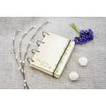 """Блокнот А6 """"Орнамент"""" з натурального дерева на кільцях. Записна книжка. Альбом для малювання. Щоденник."""