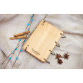 """Блокнот А6 """"Риба"""" з натурального дерева на кільцях. Записна книжка. Альбом для малювання. Щоденник."""