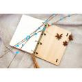 """Блокнот А6 """"Сердечка"""" з натурального дерева на кільцях. Записна книжка. Альбом для малювання. Щоденник."""