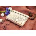 """Блокнот А6 """"Хіппі"""" з натурального дерева на кільцях. Записна книжка. Альбом для малювання. Щоденник."""