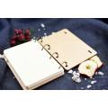 """Блокнот А6 """"Панда"""" з фанери на кільцях. Записна книжка. Альбом для малювання. Щоденник."""