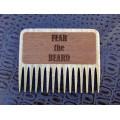 """Гребінь для бороди дерев'яний """"Fear the beard"""""""