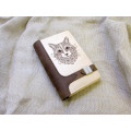 """Блокнот з натурального дерева в поєднанні зі шкірою """"Кіт"""""""